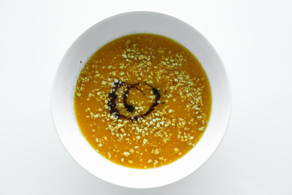 Peanut, butternut squash soup